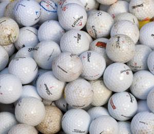Použité hrané míčky - lakeballs různé kvality