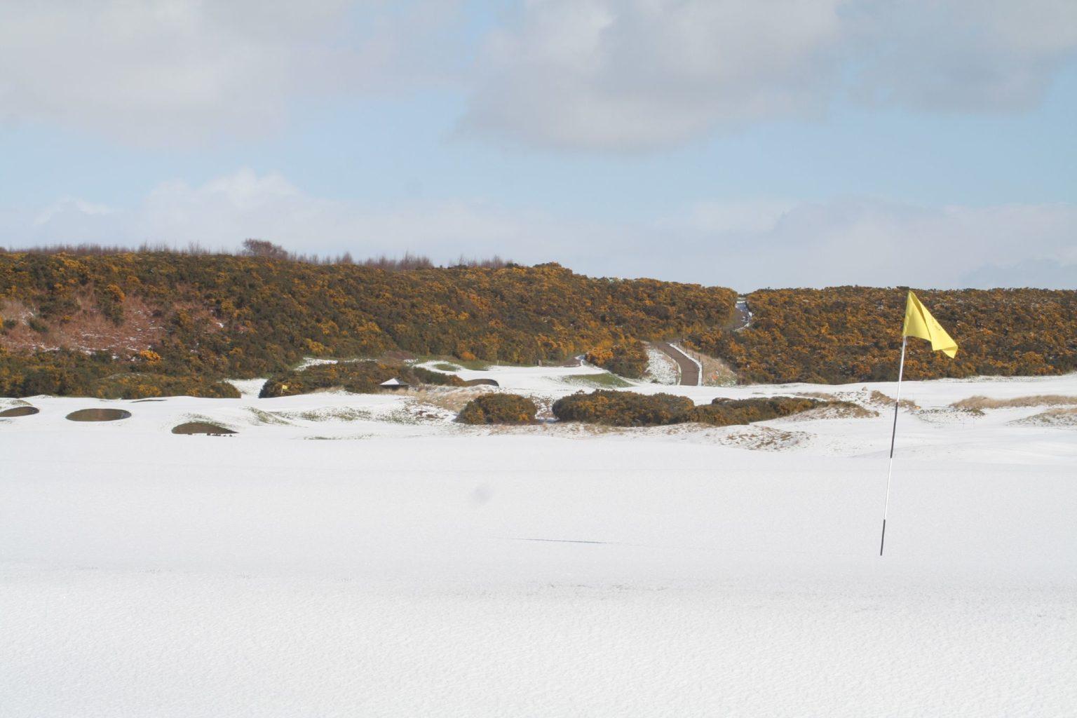 Golf v zimě
