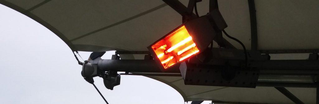 Infrazářiče na driving range v Hostivaři