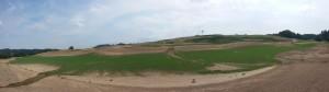 Panorama golfového hřiště v Kácově