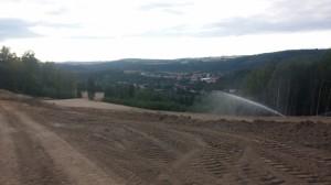 Jamkoviště s pěkným výhledem na Kácov
